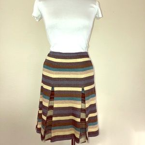 Vintage Missoni Sport Striped Box Pleat Skirt
